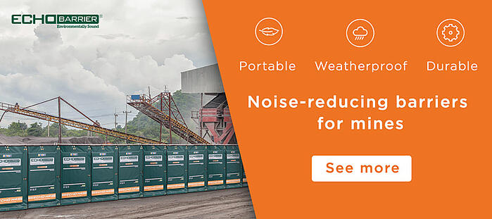 Noise-reduction barriers for mining